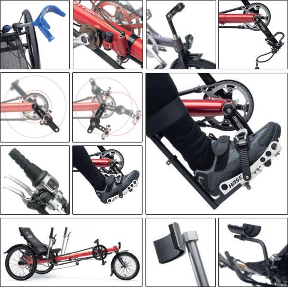 prilagoditve triciklov Hase
