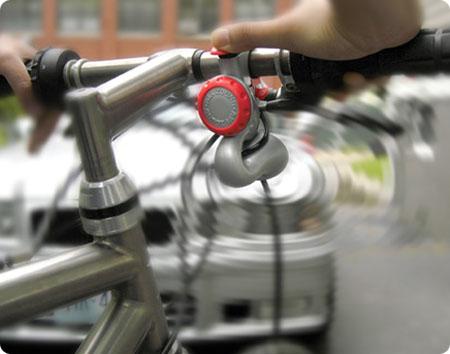 kolesarska troblja, namesto zvonca