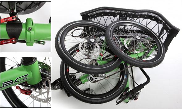 zložen tricikel Azub T-tris