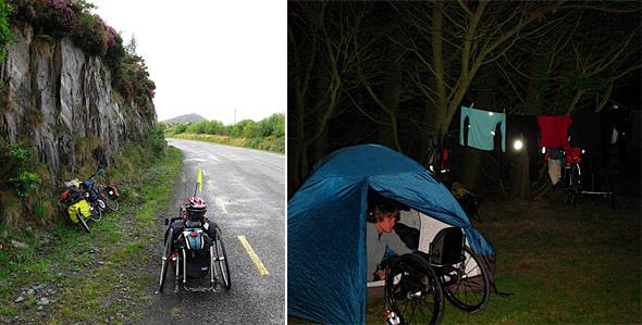 kolesarjenje po Irski z ročnim kolesom
