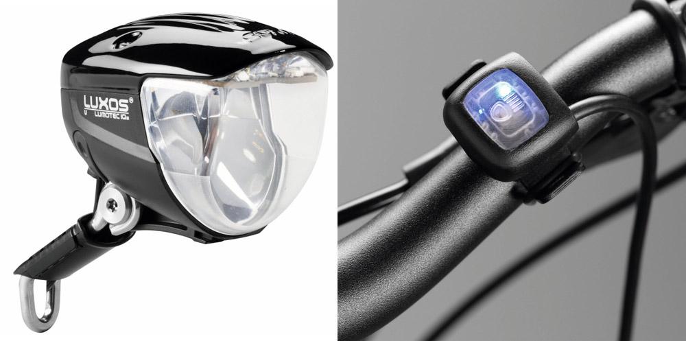 kolesarska svetilka Luxos z USB
